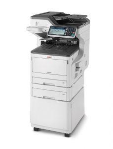 Den DIN A3-Farblaser-Multifunktionsdrucker Oki MC853dn bieten wir für € 1.330,-- statt für € 2.590,--. Zusätzlich erhalten Sie kostenlos zwei schwarze Tonerkartuschen im Wert von € 130,--. . Andere Ausstattungsvarianten dieses Druckers gibt es ebenfalls zu deutlich reduzierten Preisen.